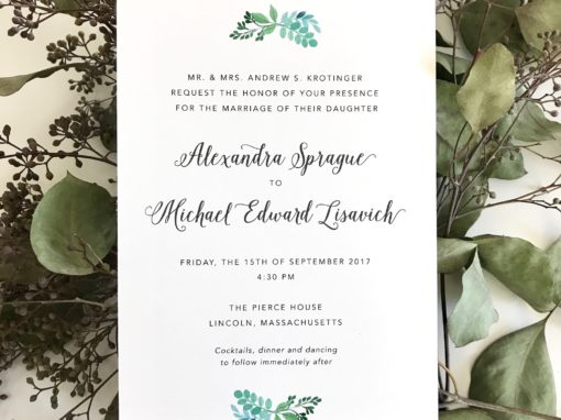Alexandra & Michael Invitation Suite