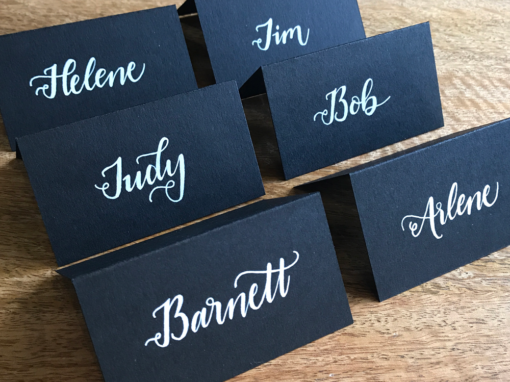 Black & White Placecards