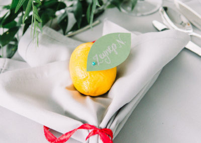 Lemon Leaf Place Cards