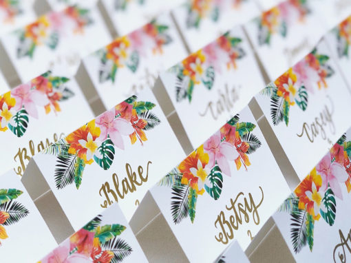 Hawaiian Escort Cards