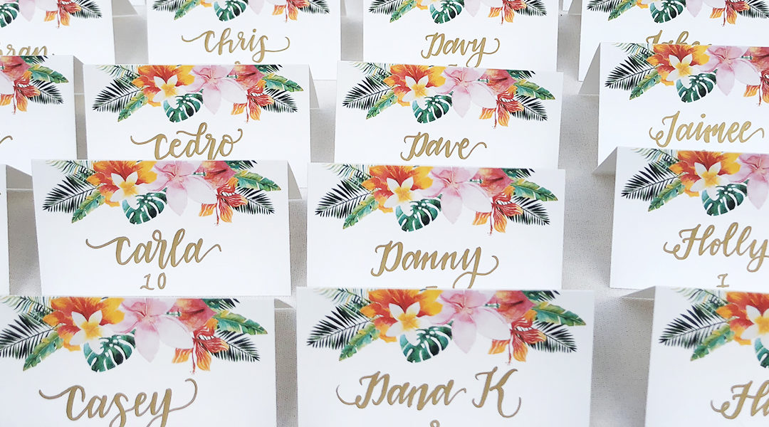 Escort Cards versus Place Cards – What's the Deal?