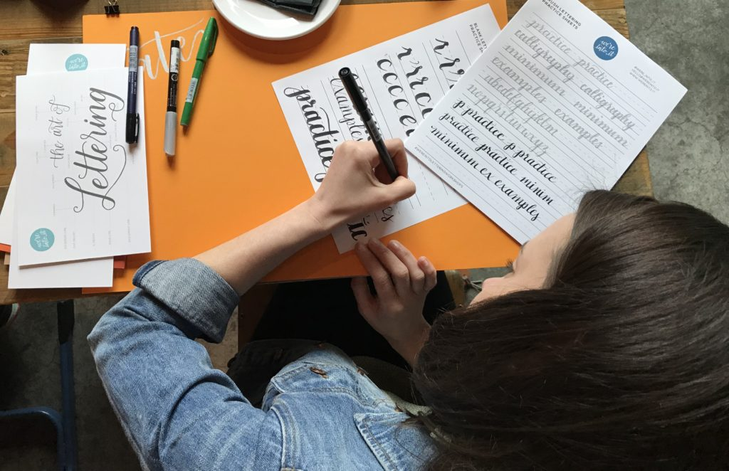 Brush Lettering Tips & Resources for Lefties