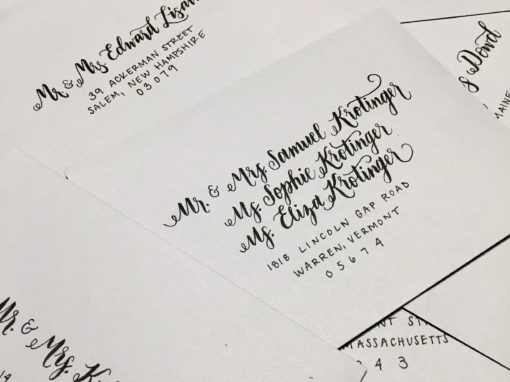 Light Grey Envelopes with Black Ink