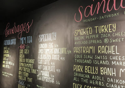 Menu Chalk Lettering for Commonwealth Cambridge