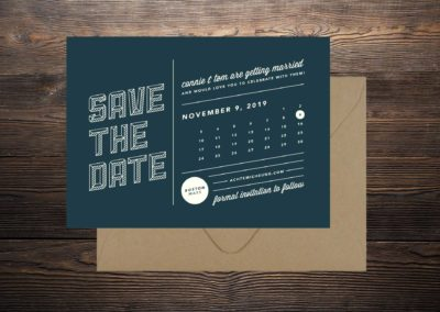 Connie & Tom Save the Date