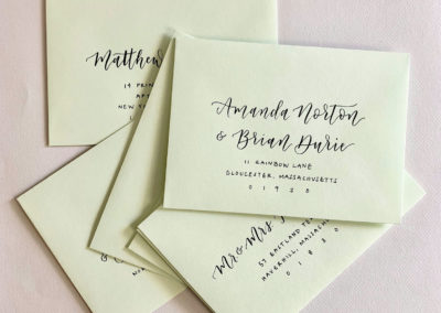 Pale Green Envelopes with Black Ink
