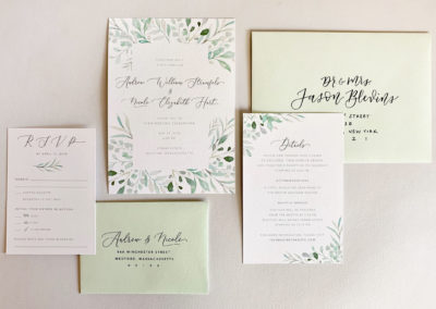 Nicole & Andrew Wedding Invitations