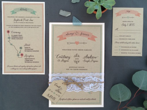 Courtney & Drew Invitation Suite