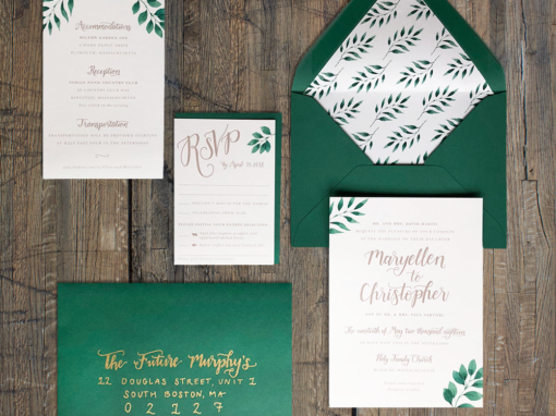 Maryellen & Chris Wedding Invitations
