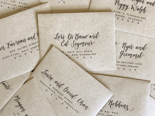 Kraft Envelopes with Black Ink