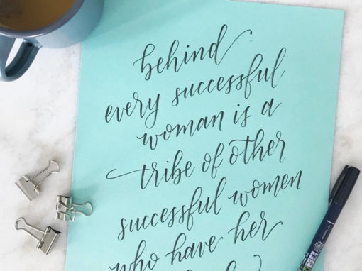Successful Women Quote Hand Lettering