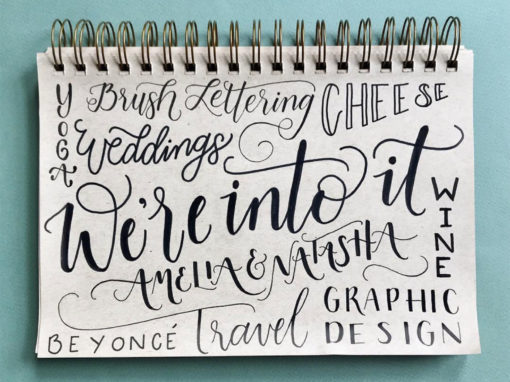 About Us Hand Lettering