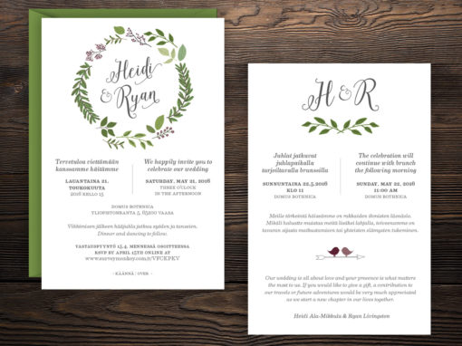 Heidi & Ryan Wedding Invitation Suite