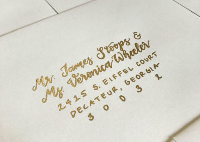 Ivory Envelopes with Gold Ink
