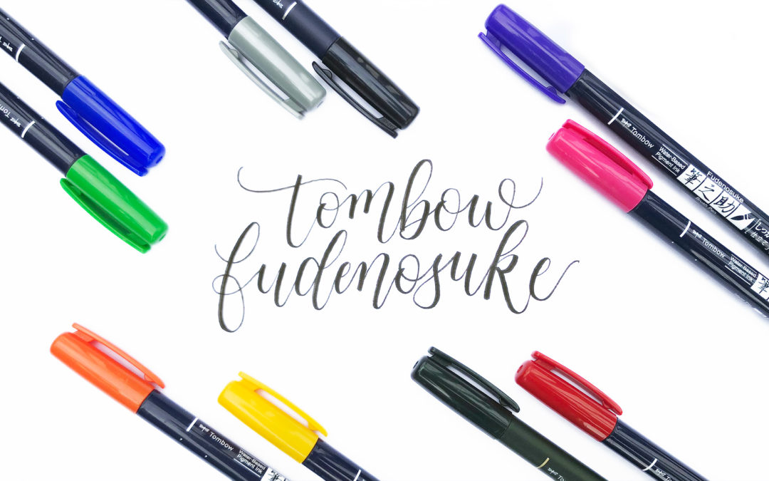 Pen Review: Tombow Fudenosuke Brush Pens (now with available colors, yay!)